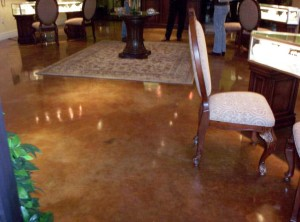 Acid Stain - Jewelry Store Concrete Flooring