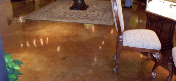 Acid Stain – Jewelry Store Concrete Flooring
