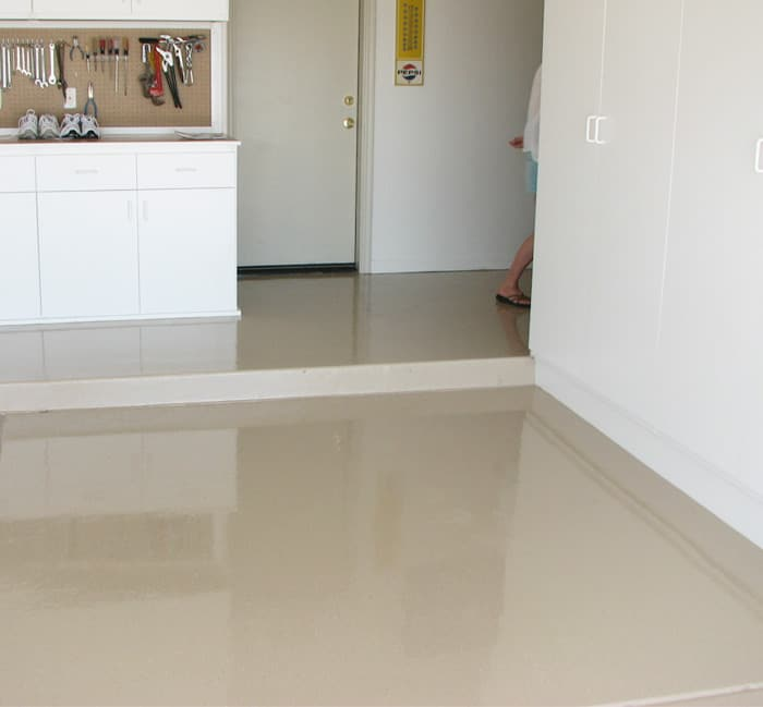 Epoxy Finish Light Brown Floor Sledge Concrete Coatings