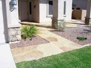 Faux Flagstone - Frontyard Footpath