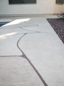 Faux Flagstone - Backyard Pathway