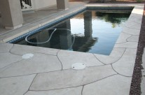 Faux Flagstone – Pool Decking