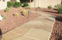 Faux Flagstone – Frontyard Sidewalk