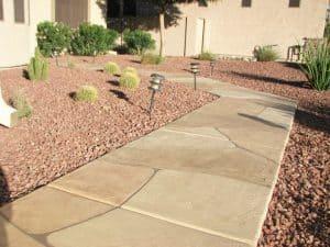 Faux Flagstone - Frontyard Sidewalk