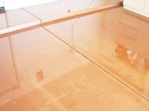 Metallic Finish - Copper Garage Flooring