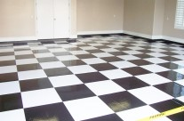 Specialty Floors – Black & White Checkered Garage