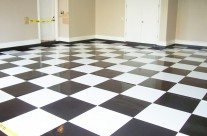 Specialty Floors – White & Black Squares