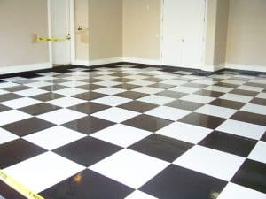 Specialty Floors - White & Black Squares