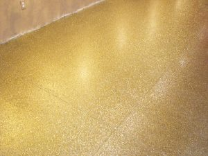 Specialty Floors - Gold Flake Finish