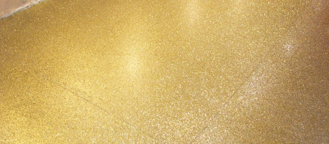Specialty Floors – Gold Flake Finish