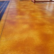Acid Stain- New Washed Concrete Floor