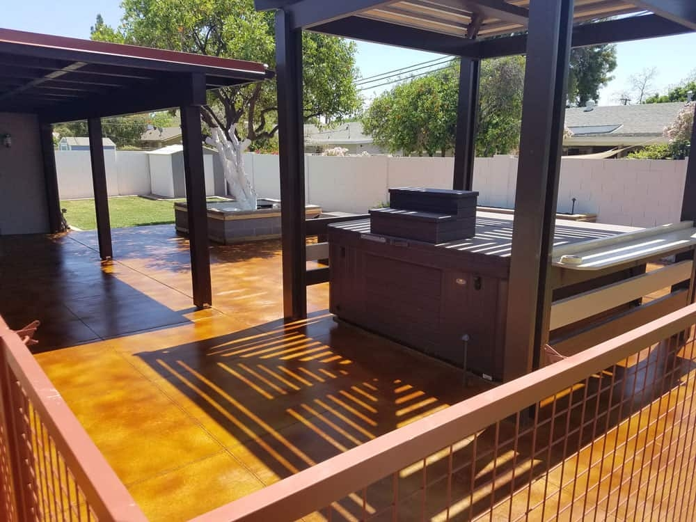 Acid Stain – Polished Outdoor Area Concrete Floor