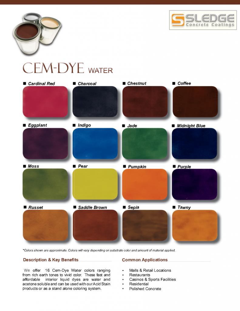 Phoenix arizonas sledge concrete coating colors designs cem dye color chart nvjuhfo Image collections