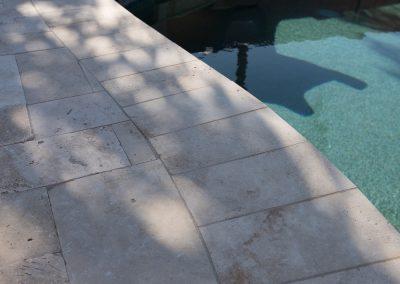 Clean Pool Deck in Shadow