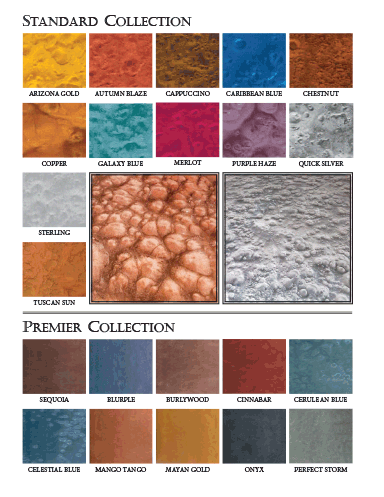 Cohills Metal Essence color chart