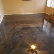 Epoxy Coating – Floor is Epoxy coated and shiny