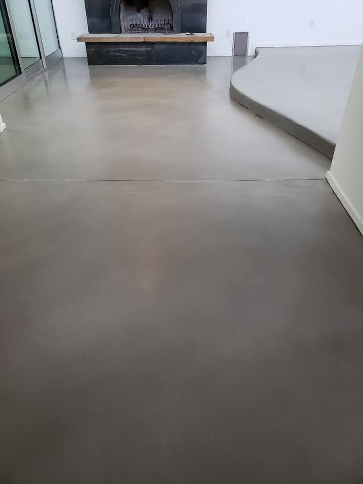 Living Room With Mapei Overlay Floor FInish