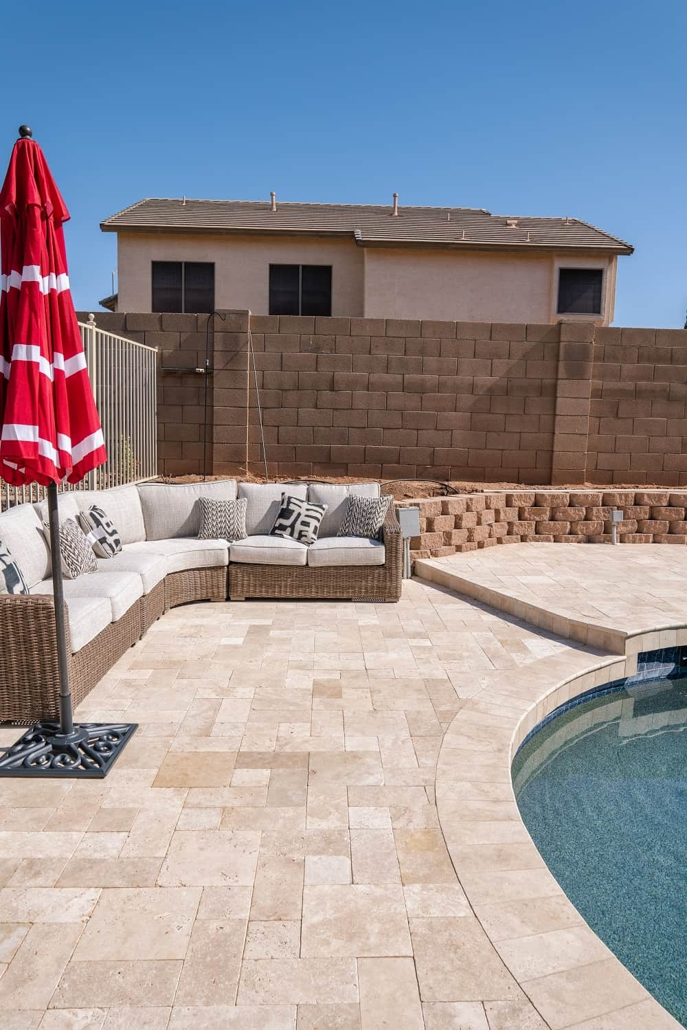Pool Side Paving work done by Sledge Concrete Coating