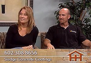 Sledge Concrete Coating on Home Hunter, Richard & Melissa Sledge
