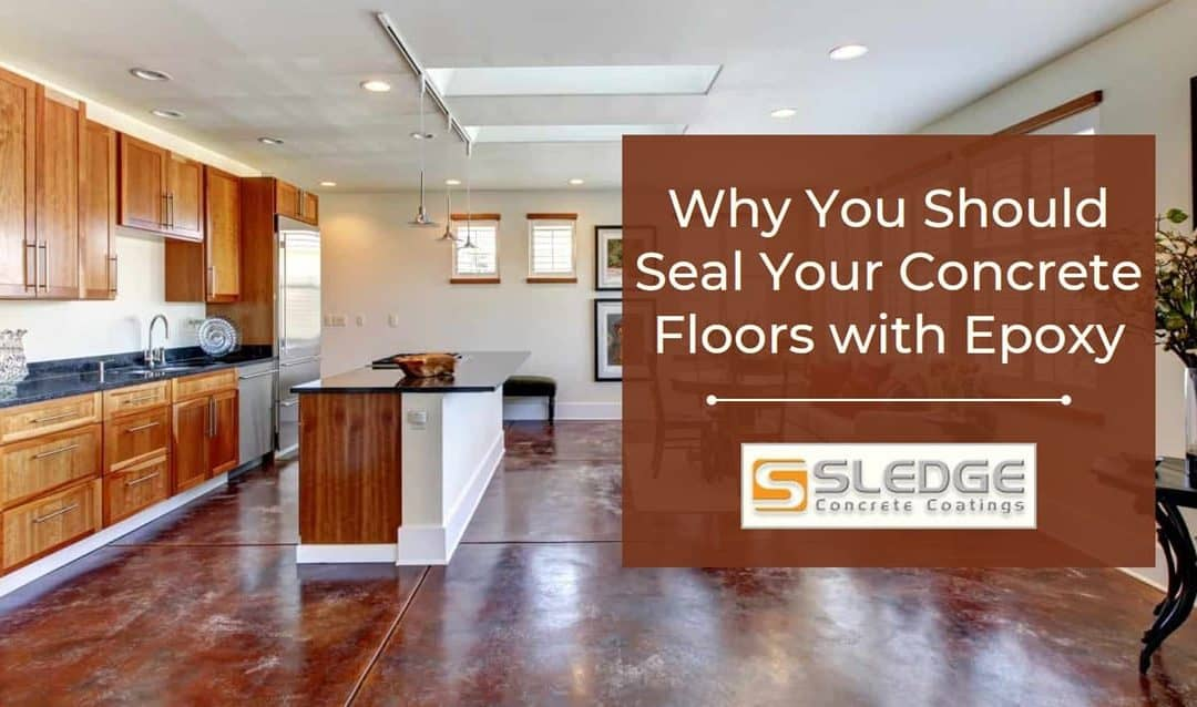 Seal concrete floors with epoxy