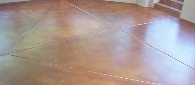 Acid Stained Concrete Finish