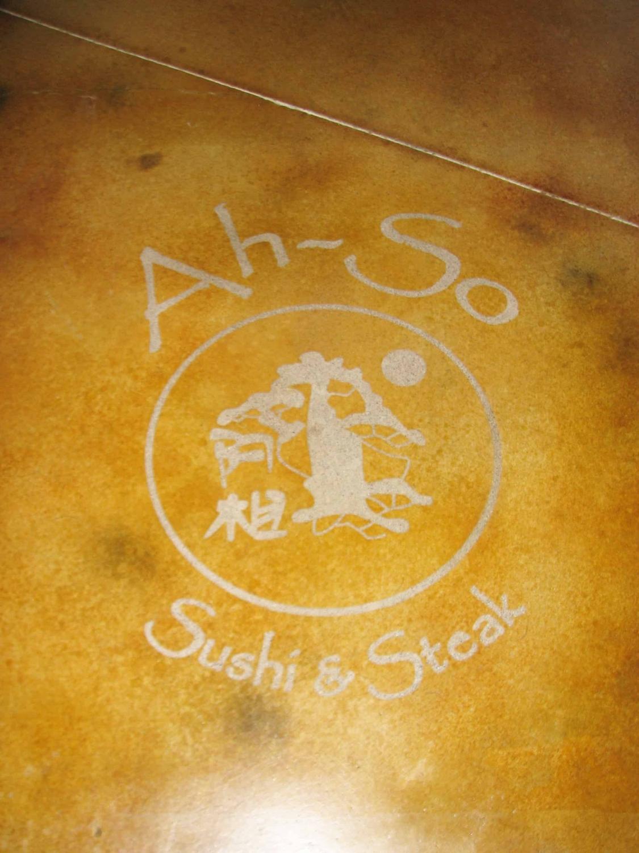 Acid Stain – Floor Decal at Ah-So Restaurant
