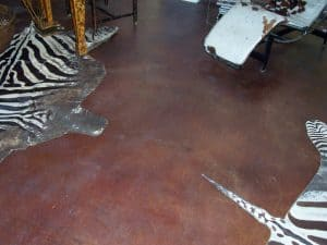 Acid Stain – Home Office Flooring