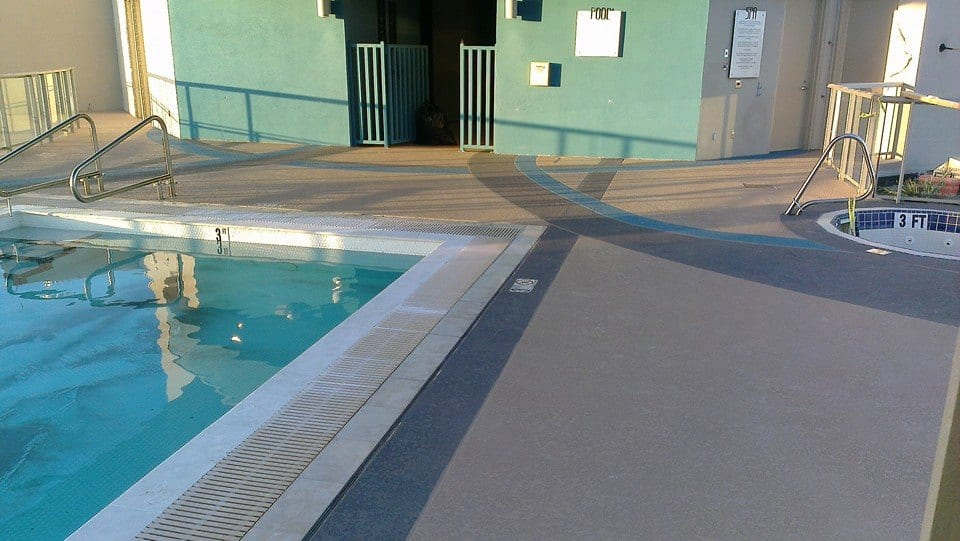 Cool Deck Rooftop Pool 1 Sledge Concrete Coatings