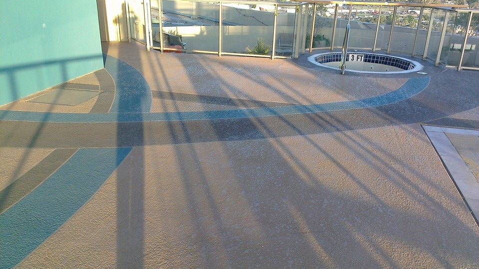 Cool Deck Rooftop Pool 5 Sledge Concrete Coatings