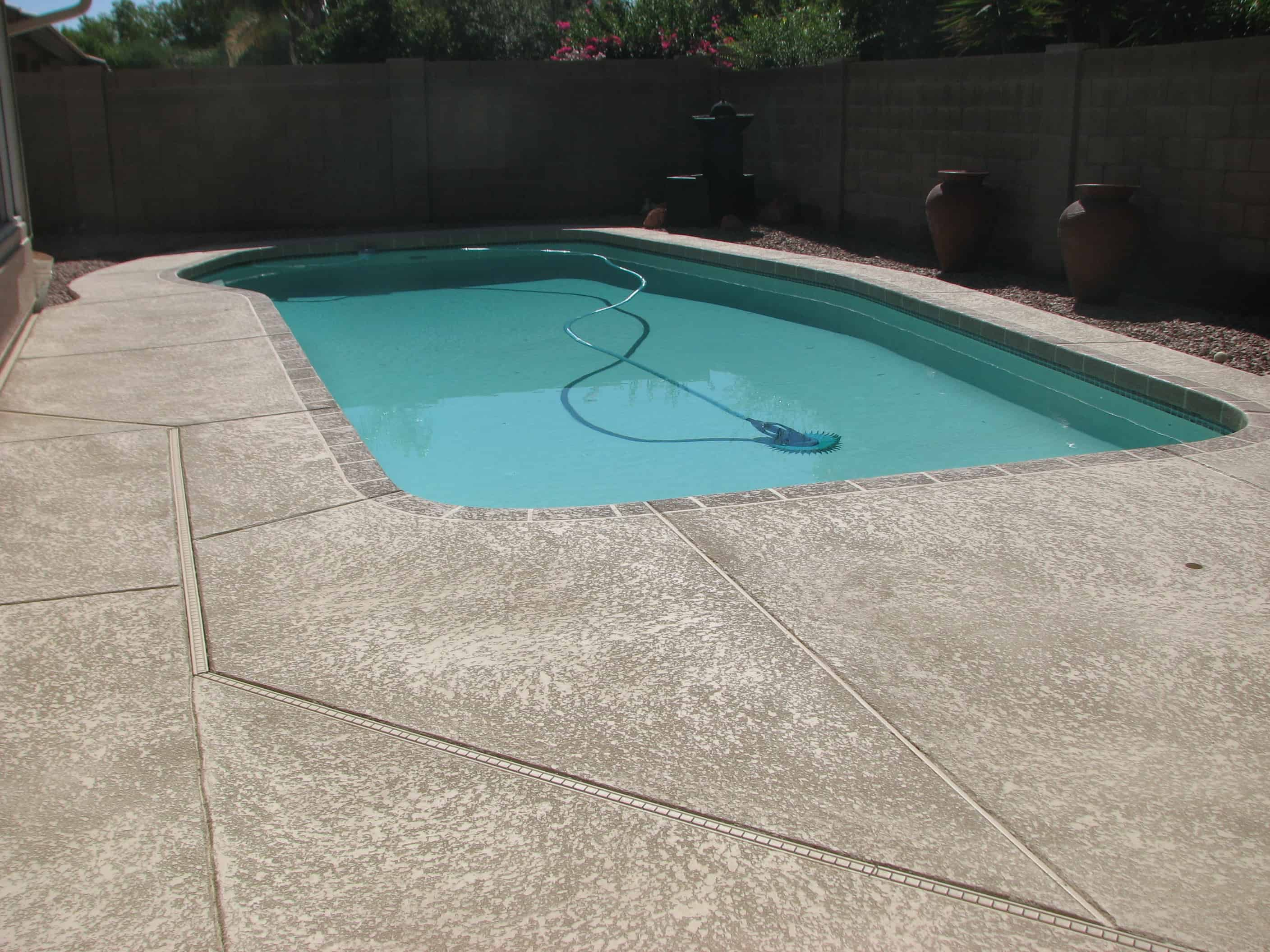 cool deck backyard swimming pool sledge concrete coatings