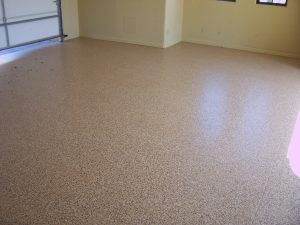 Epoxy Finish - Light Brown Garage Floor Finish