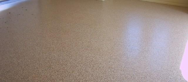 Epoxy Finish – Light Brown Garage Floor Finish