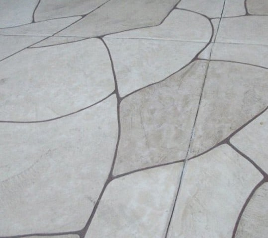 Faux Flagstone Concrete Finish