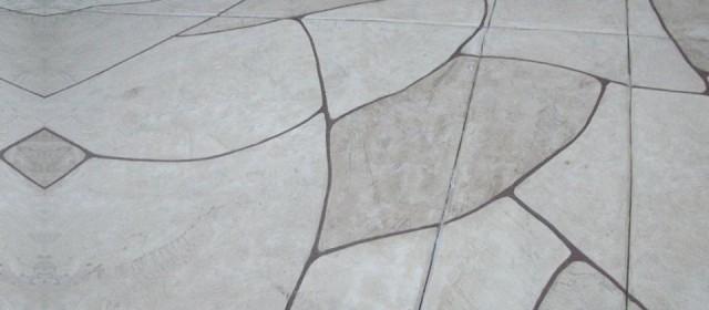 Faux Flagstone Concrete Finish