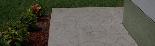 Faux Flagstone Work