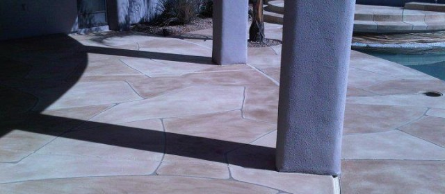 Faux Flagstone – Pool Installation 1