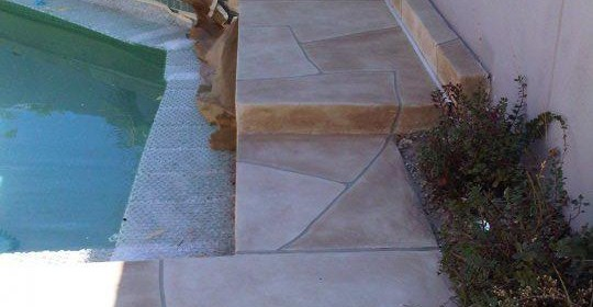 Faux Flagstone – Pool Installation 2