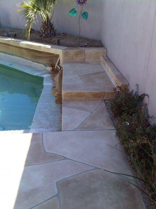 Faux Flagstone U2013 Pool Installation 2 Zoom In Read More
