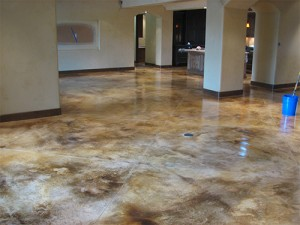 Acid Stained floor by Sledge Concrete Coatings in Phoenix AZ
