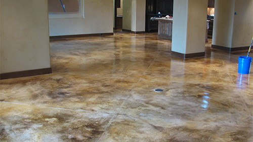 How Does the Floor Get Prepared for Acid Staining?