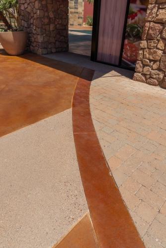 sledge concrete flooring project scottsdale az